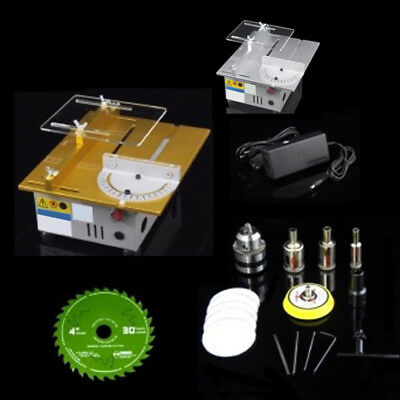 Gold/Silver Mini Desktop T5 Table Saw DC 12-24V Portable Polishing Machine SH