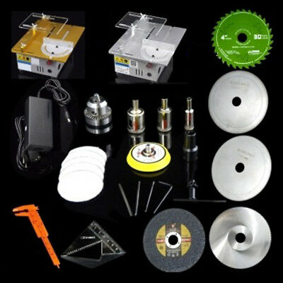 New Deluxe DIY Polishing/Grinding/Cutting Machine T5 Precision Table Saw Kits SH