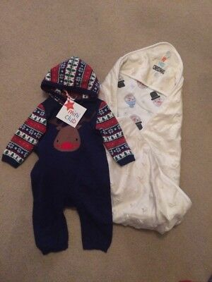0-3 Months Christmas All-in-one & 'My 1st Christmas' Blanket