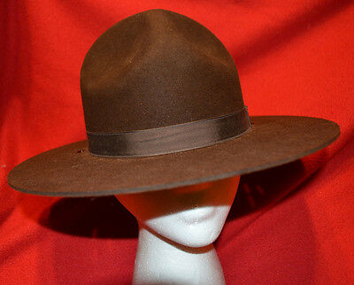 Nice Stratton Self Forming Brown Felt Campaign Hat (Police/Sheriff) Size 6 7/8