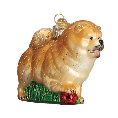 """Chow Chow"" (12497)X Old World Christmas Glass Ornament w/OWC Box"