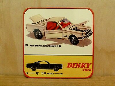 Drink Coaster Set Of 4 - Dinky Toys No.161 Ford Mustang
