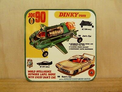 Drink Coaster Set Of 4 - Dinky Toys Joe 90 Joe's & Car Sams Car