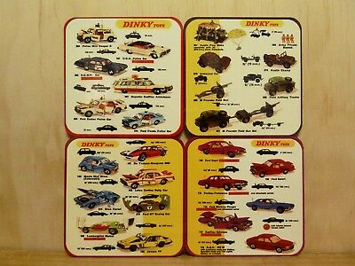 Drink Coaster Set Of 4 - Dinky Toys -