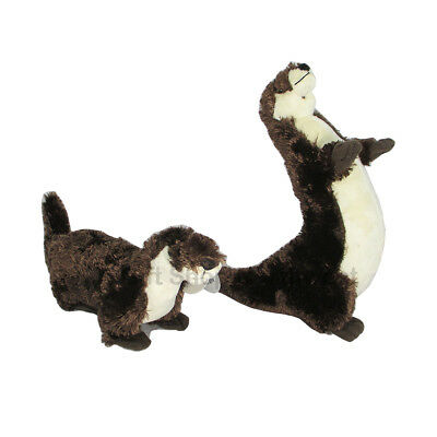 "Wishpets 16"" & 12"" River Otters Super Soft Plush Toy Set of Two New With Tag"