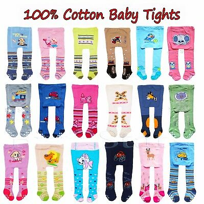 Baby Toddler Kid Boy/Girl Cotton Tights Anti Slip Leg Warmer 0-6-12-18-24 months