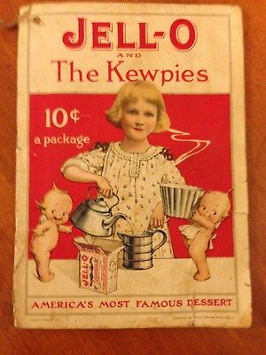 Jell-O And The Kewpies Advertising Trade Recipe Dessert Booklet, 1915, SWEET!