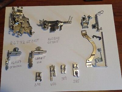 Vintage Singer Sewing Machine Attachments 86742,160847,161127, 385, 650,389,395