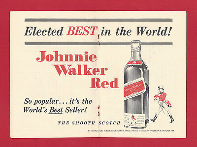 1968 Guide To The Presidential Election Compliments of Johnnie Walker Red Label