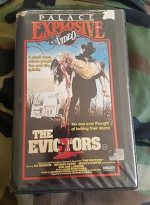THE EVICTORS (1979) VHS Pre Cert Palace Explosive Issue - Cult Classic Horror!