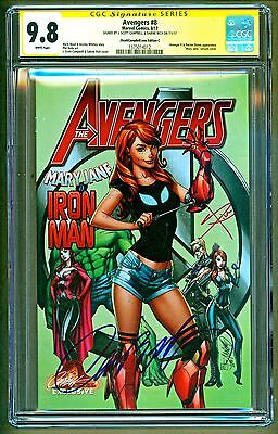 Avengers #8 Cover C Iron Man Mary Jane Variant Signed J Scott Campbell CGC 9.8