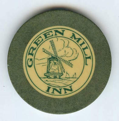 Green Mill Inn Louisiana Illegal Crest & Seal Casino Chip