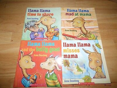 Lot of 4 Llama Llama PB books by Anna Dewdney; like new one owner