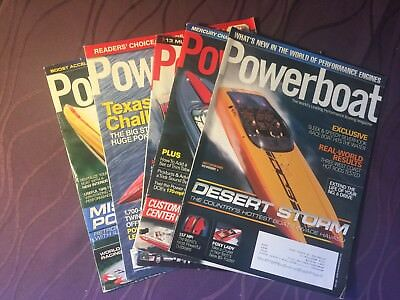 POWERBOAT Magazine - Lot of 5 issues from 2011 • Hot Boat Speedboat Boating