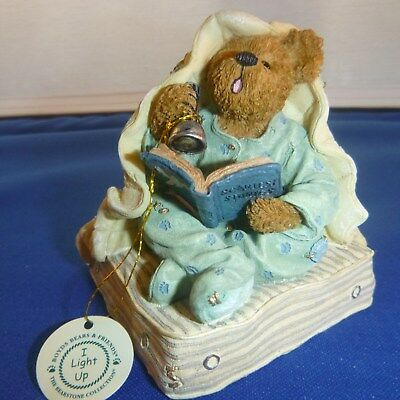"Boyds Bears ""Fraidy Bear Did You Hear That""  Light Up Flashlight Complete in Box"