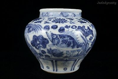 A Chinese Beautiful Blue and White Porcelain Fish Pot