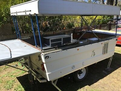Viscount pop top camper unfinished project 4wd