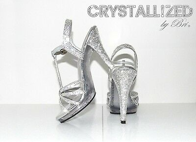 MADE TO ORDER Custom Crystallized Bling High Heels Made with Swarovski Crystals
