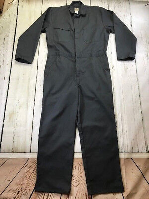 New! Industrial Work Coverall Charcoal,by REED-USA,65% Polyester / 35% Cotton