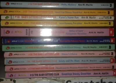 Lot of 11 Baby Sitter's Club Books S4