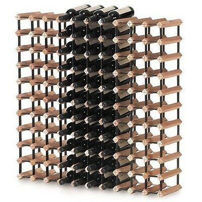 Monterey 110 Bottle Solid Timber Wooden Wine Storage Rack Holder Cellar Kit