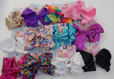 NEW JoJo Siwa Large Hair Bow ~ Dance Moms Cheer Jo Jo ~ Various ~ Select colour