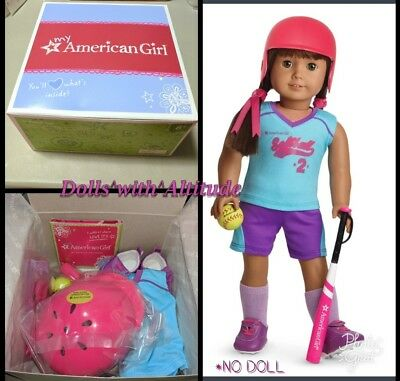 NEW AMERICAN GIRL MyAG Softball Outfit Set Accessories Charm Complete NO DOLL