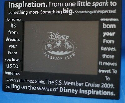 Disney Vacation Club DVC 2009 Member Cruise Inspirations Picture Frame