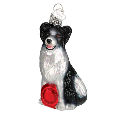 """Border Collie"" (12302) Old World Christmas Glass Ornament w/ OWC Box"
