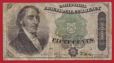 1869-75 4th Issue 50¢ Fractional Currency,Dexter Bust,Fr 1379,circulated F,Nice!