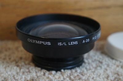 Olympus IS/L Lens A-28  H.Q. Converter 0.8x with Caps