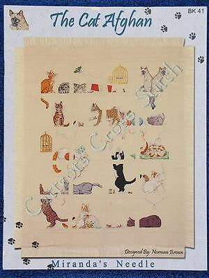 Cross Stitch Pattern The Cat Afghan Cats Sampler Afghan