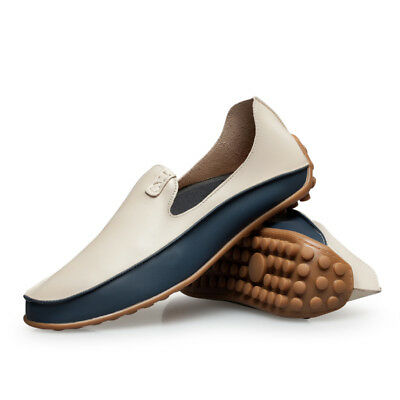 Men's Boat Casual Slip On Loafers Breathable Leather Driving Moccasins Shoes