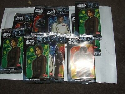 10 x Packets of Topps Star Wars Rogue One Trading Cards  NEW IN PACKAGING