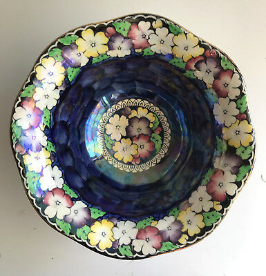 maling england large octagonal floral lustre footed bowl newcastle on tyne