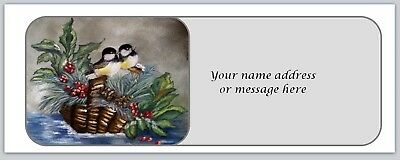 Personalized address labels Christmas Birds Buy 3 get 1 free (xbo 681)