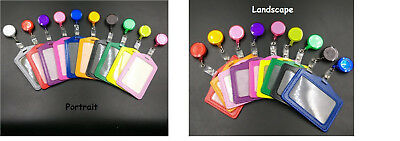 Retractable Pant Clip ID Badge Card Holder Business Security Pass Tag - 10 Color