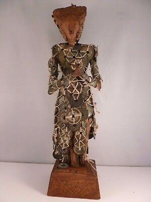 STUNNING old BALINESE Dewi Sri ceremonial CHINESE COIN statue c 1920s - 1950s