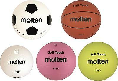 10x Molten Soft Balle prv-1 prv-2 prb-1 prh-1 PRS-1 FOOTBALL BASKETBALL