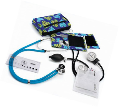 Sprague & Sphygmomanometer Nurse Kit With Carrying Case In Dotty Hearts