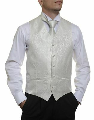 "Ensign Formal - Wedding Vest / Waistcoat in Ivory 45"" 117cm chest"