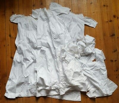 Victorian Baby Christening Gown / Dresses & Lace Work Job Lot 19th century LOOK