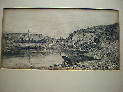 Adolphe Appian - Proof Before Letters Acquaforte 1862 Etching Incisione Barbizon