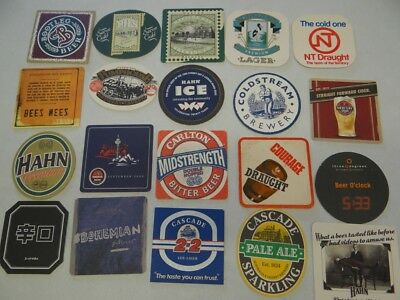 20 x MIXED COLLECTABLE BEER COASTERS/MATS CR54