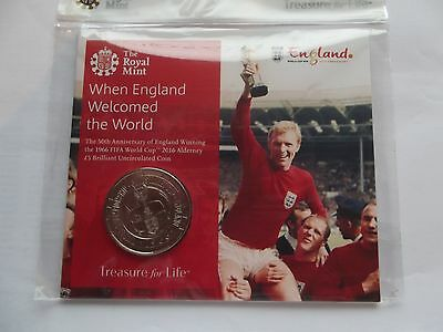 Royal Mint £5 P/Pack- 50th Anniversary of England's1966 World Cup Win  {REDUCED}