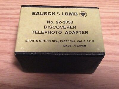 Bausch & Lomb No. 22-3030 Discoverer telephoto adapter - excellent condition