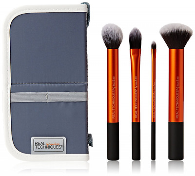 Real Techniques Core Collection Set MakeUp Brushes Travel Kit Essentials Soft