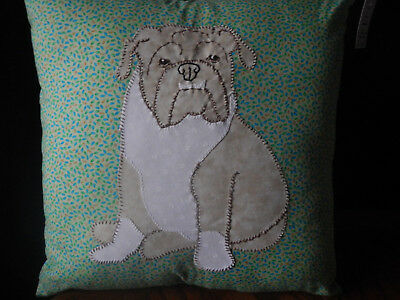 English Bull Dog Hand Crafted Pillow