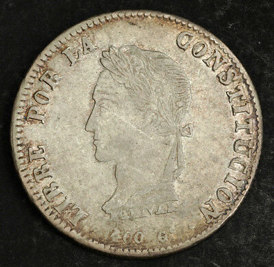 1861, Bolivia (Republic). Large Silver 8 Soles Coin. XF!