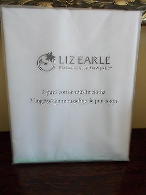 LIZ EARLE Pure Muslin Cloths ~ 2 In Sealed Packet For Use With Cleanse & Polish